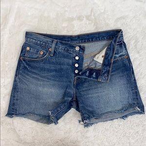 Levi's 501 CT cut off button fly denim shorts 25